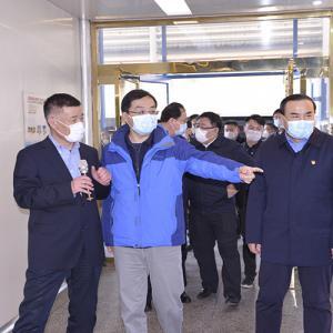 山东省副省长刘强一行莅临百龙创园调研指导